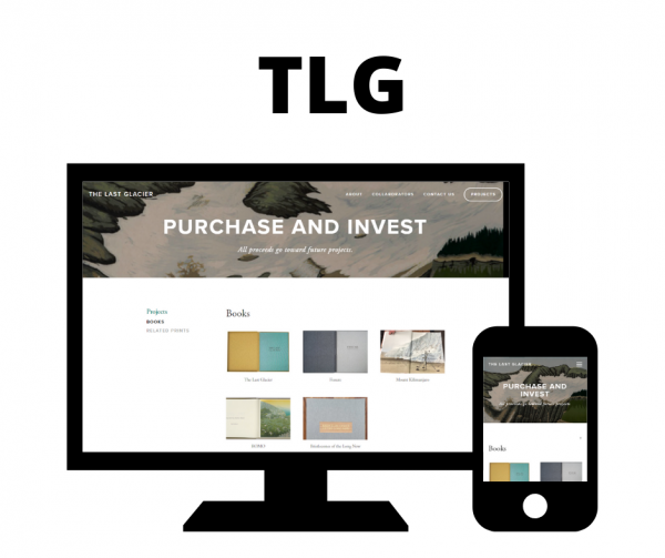 Hoan Marketing has partnered with The Last Glacier, an environmental artist project, for Squarespace website design services.