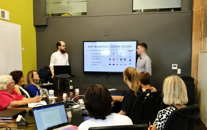 Hoan Marketing led the All About WordPress workshop in Milwaukee, Wisconsin to teach the basics of the popular web design tool.