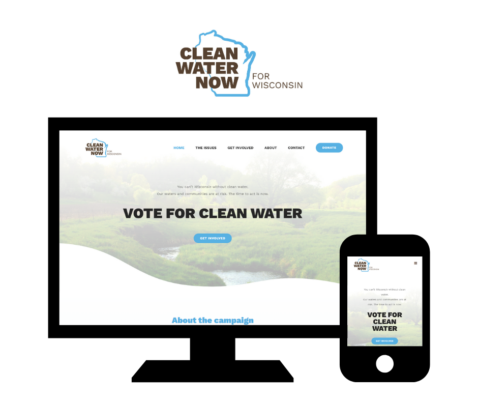 Hoan Marketing has partnered with the Clean Water Now for Wisconsin campaign for custom WordPress website design services.